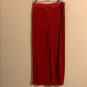 Victoria's Secret red velour pants size small